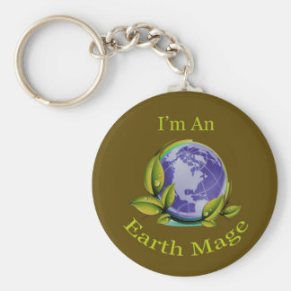 I'm An Earth Mage Basic Round Button Keychain