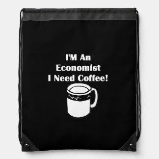 I'M An Economist, I Need Coffee! Drawstring Bag
