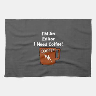 I'M An Editor, I Need Coffee! Hand Towels