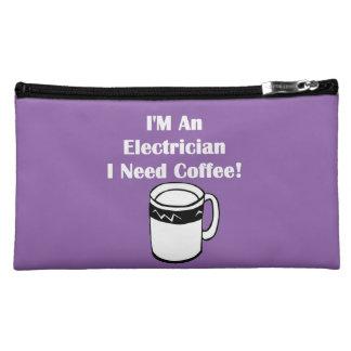 I'M An Electrician, I Need Coffee! Makeup Bag