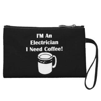 I'M An Electrician, I Need Coffee! Wristlet