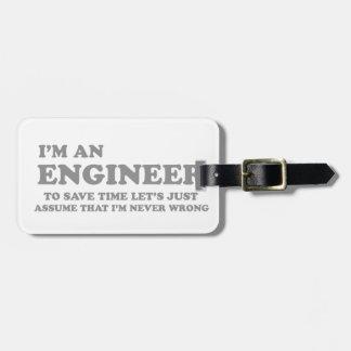 I'm an Engineer Bag Tag
