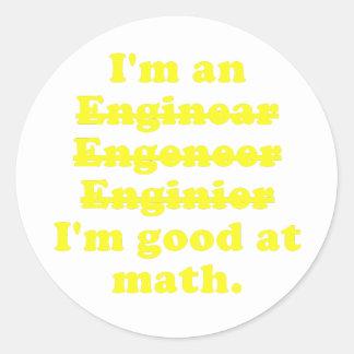 I'm an Engineer Classic Round Sticker