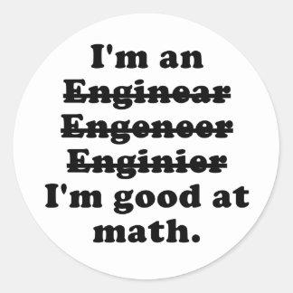 Im an Engineer Classic Round Sticker