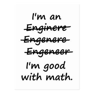 I'm an Engineer I'm Good at Math Post Cards