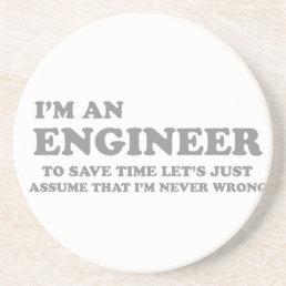 I'm an Engineer Sandstone Coaster