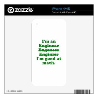 I'm an Engineer Skin For The iPhone 4