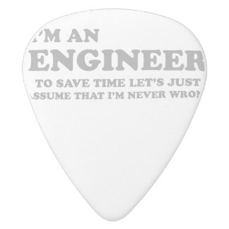 I'm an engineer white delrin guitar pick