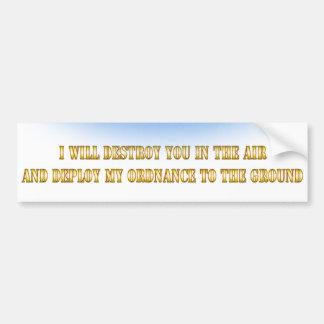 I'm an FA-18 bro Bumper Sticker