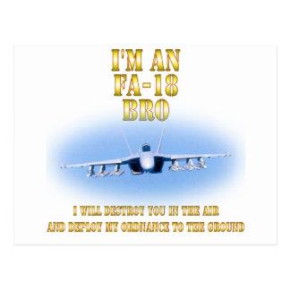 I'm an FA-18 bro Postcards