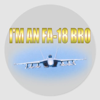 I'm an FA-18 Classic Round Sticker