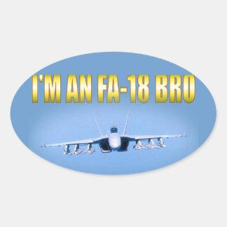 I'm an FA-18 Oval Sticker