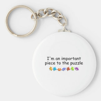 I'm An Important Piece Of The Puzzle (PP) Basic Round Button Keychain