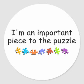 Im An Important Piece Of The Puzzle Stickers