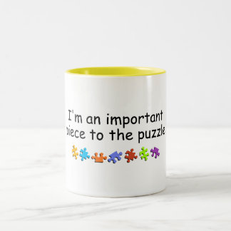 Im An Important Piece Of The Puzzle Two-Tone Coffee Mug