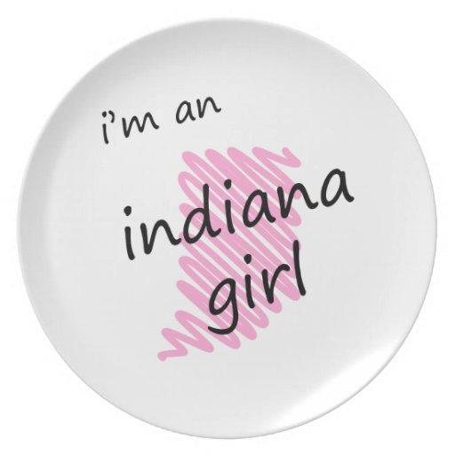 I'm an Indiana Girl Dinner Plates