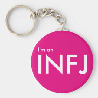 I'm an INFJ - Personality Type Pink Keychain