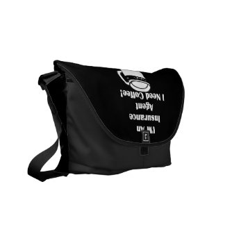 I'M An Insurance Agent, I Need Coffee! Courier Bag