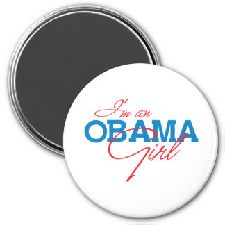 I'm an Obama Girl 3 Inch Round Magnet