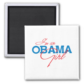 I'm an Obama Girl 2 Inch Square Magnet