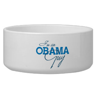 I'm an Obama Guy Dog Water Bowls