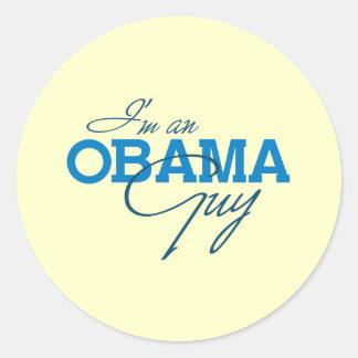 I'm an Obama Guy Round Stickers