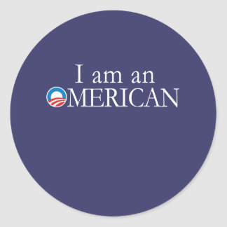 I'm an Omerican Round Stickers