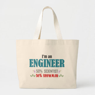 I'm an to engineer large tote bag