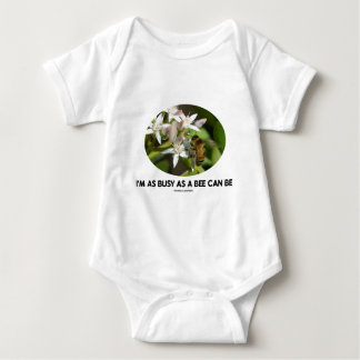 I'm As Busy As A Bee Can Be (Bee On White Flower) Baby Bodysuit