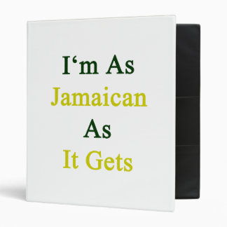 I'm As Jamaican As It Gets 3 Ring Binder