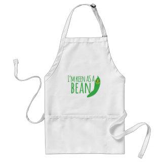 I'm as keen as a bean with cute kawaii beanie adult apron