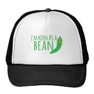 I'm as keen as a bean with cute kawaii beanie trucker hat