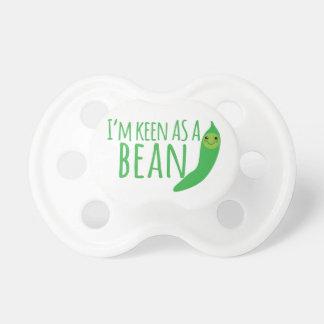 I'm as keen as a bean with cute kawaii beanie pacifier