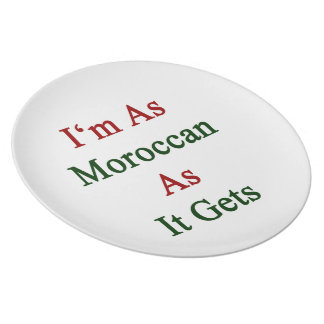 I'm As Moroccan As It Gets Plates