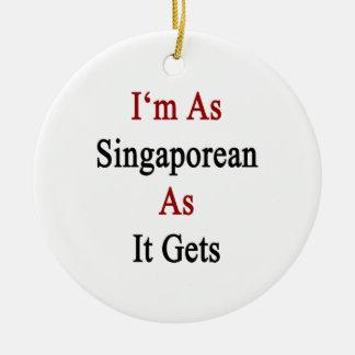 I'm As Singaporean As It Gets Christmas Ornaments
