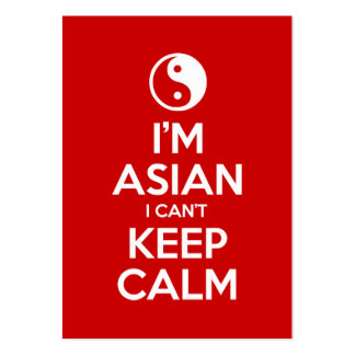 I'm Asian I Can't Keep Calm Business Card Template