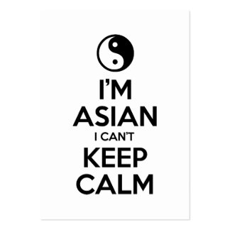 I'm Asian I Can't Keep Calm Business Card Templates