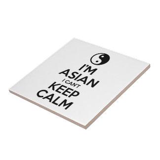 I'm Asian I Can't Keep Calm Ceramic Tile