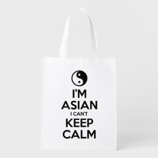 I'm Asian I Can't Keep Calm Reusable Grocery Bag
