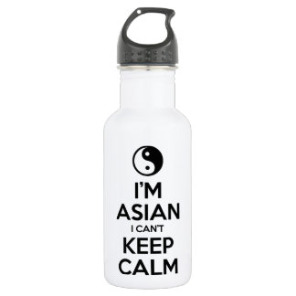 I'm Asian I Can't Keep Calm Water Bottle