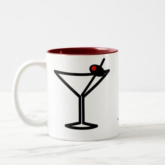 I'm At Work. Two-Tone Coffee Mug
