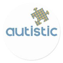 I'm Autistic Classic Round Sticker