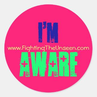 I'm Aware Classic Round Sticker