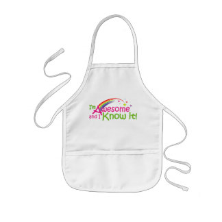 I'm Awesome and I know it! Kids' Apron
