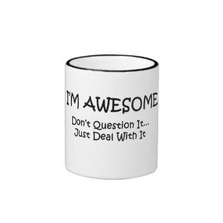 I'm Awesome Ringer Coffee Mug