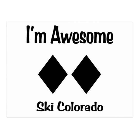 I'm Awesome Ski Colorado Postcard
