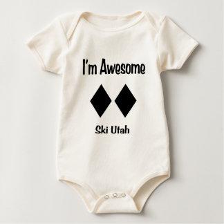 I'm Awesome Ski Utah Baby Bodysuit