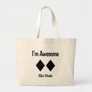I'm Awesome Ski Utah Large Tote Bag