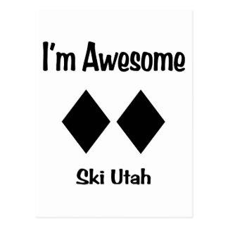 I'm Awesome Ski Utah Postcard