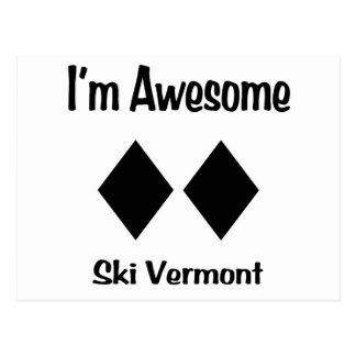 I'm Awesome Ski Vermont Postcard